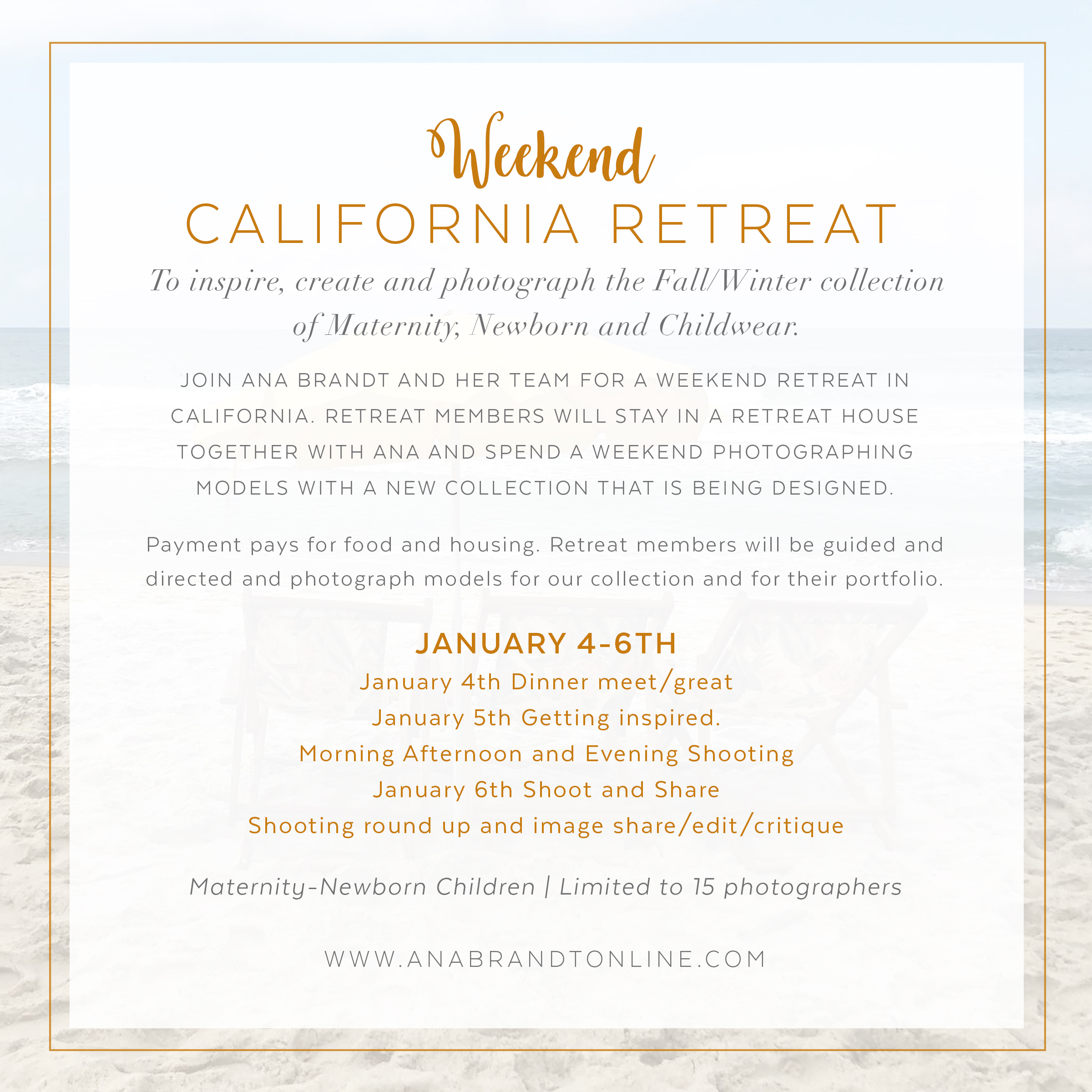 Ana Brandt Workshops California Retreat With Ana Brandt